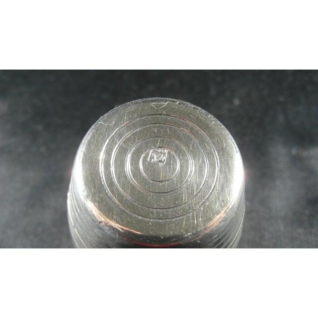 Italian Silver Barrel Shaped Liquor Cup For Sale - Image 6 of 9