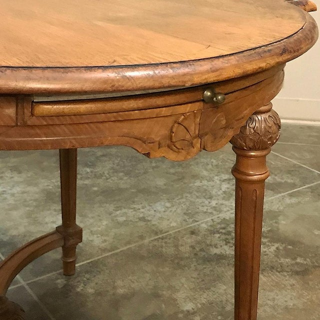 Wood 19th Century French Neoclassical End Table Ca. 1880 For Sale - Image 7 of 12