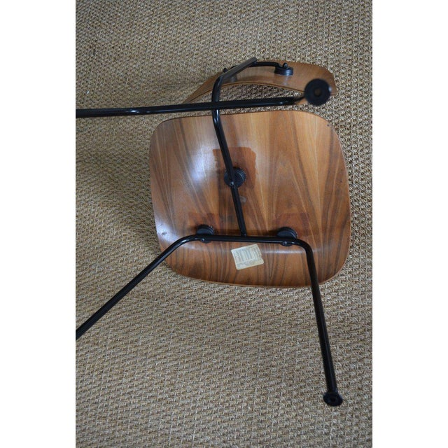 Dozens of Herman Miller Eames 1950s Walnut Dining Room Chair With New Hm Frames For Sale - Image 9 of 11