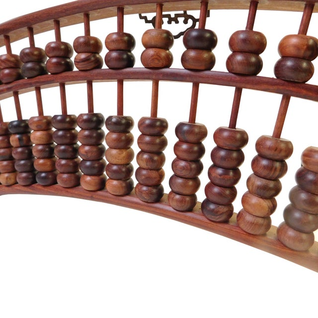 Asian Fan Shaped Abacus Fengshui Wall Hanging For Sale - Image 3 of 6