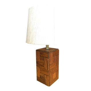 Mid-Century Hand Crafted Wood Table Lamp