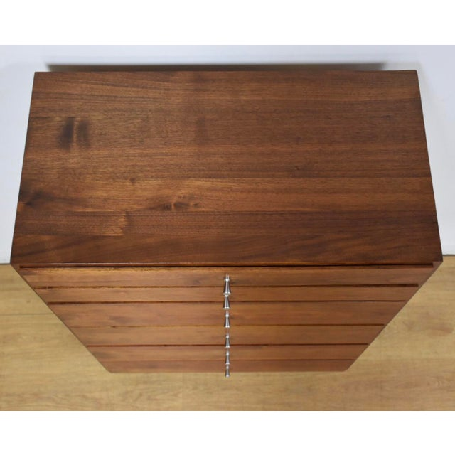 1950s Mid-Century Modern Solid Walnut Lingerie Chest For Sale In Boston - Image 6 of 10