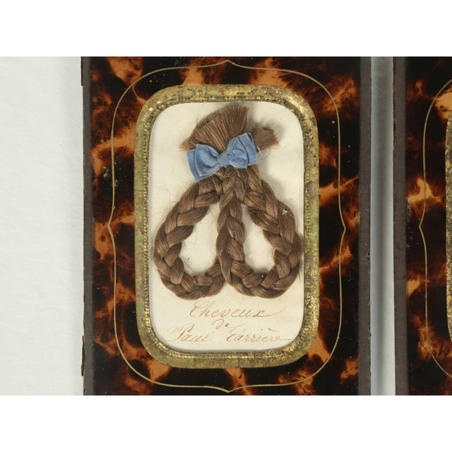 French Antique French Faux Tortoiseshell Glass Picture Frames - Set of 6 For Sale - Image 3 of 11