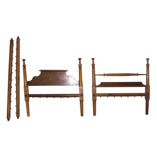 Antique Full Size Wooden Bed Frame For Sale
