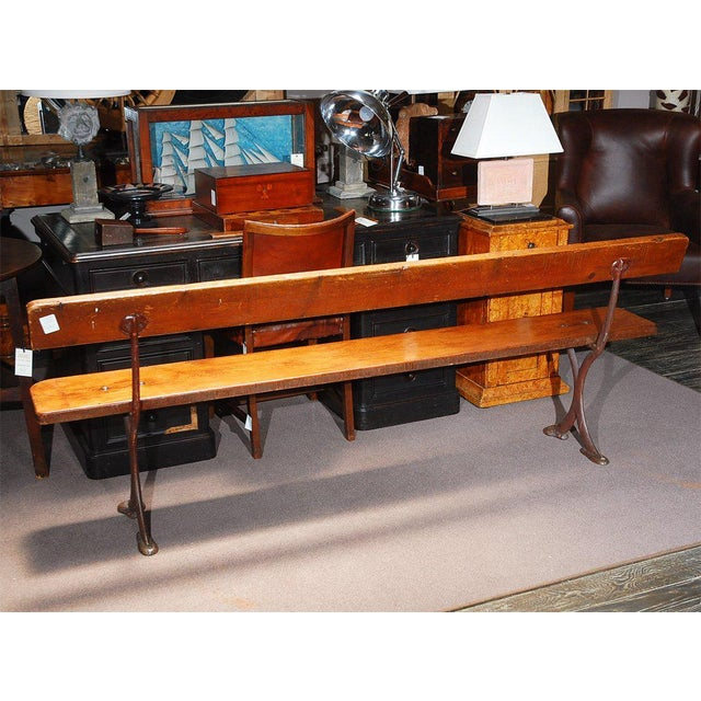 Iron English Bench in Iron and Wood, Circa 1890 For Sale - Image 7 of 8