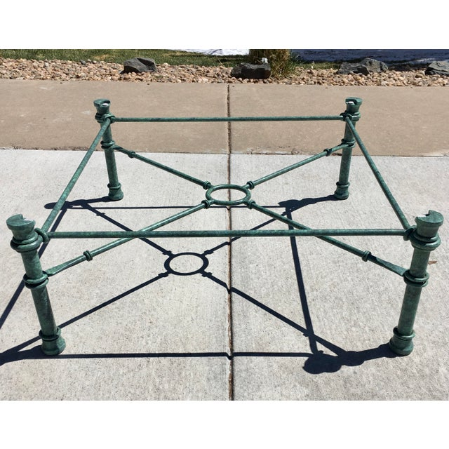 Mid-Century Modern Wrought Iron Coffee Table After Giacometti For Sale In Denver - Image 6 of 12