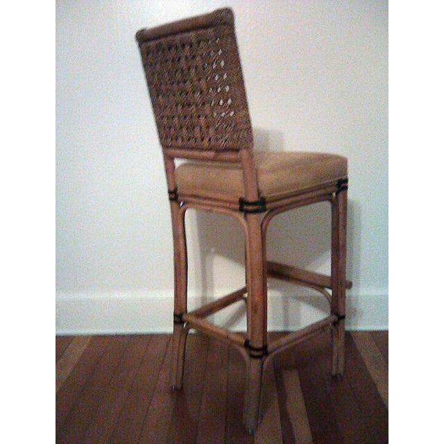 Palecek Bamboo, Leather and Jute Barstools- Set of 3 For Sale In New York - Image 6 of 9