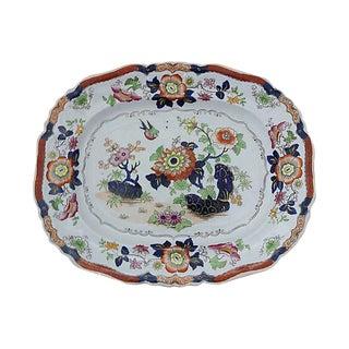 1840s Antique English Ironstone Platter