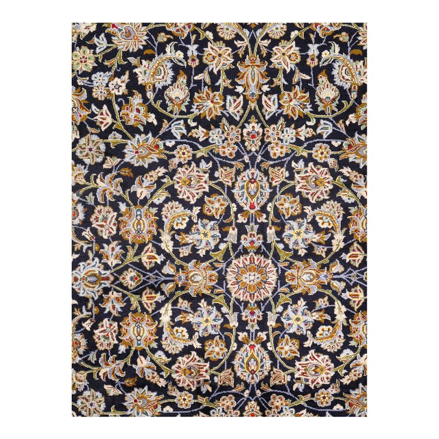 Traditional Pasagad Semi-Antique Kashan Hand-Knotted Rug - 10′ × 14′ For Sale - Image 3 of 4