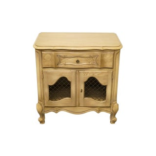 Late 20 C. Vintage White Country French Regency Nightstand For Sale