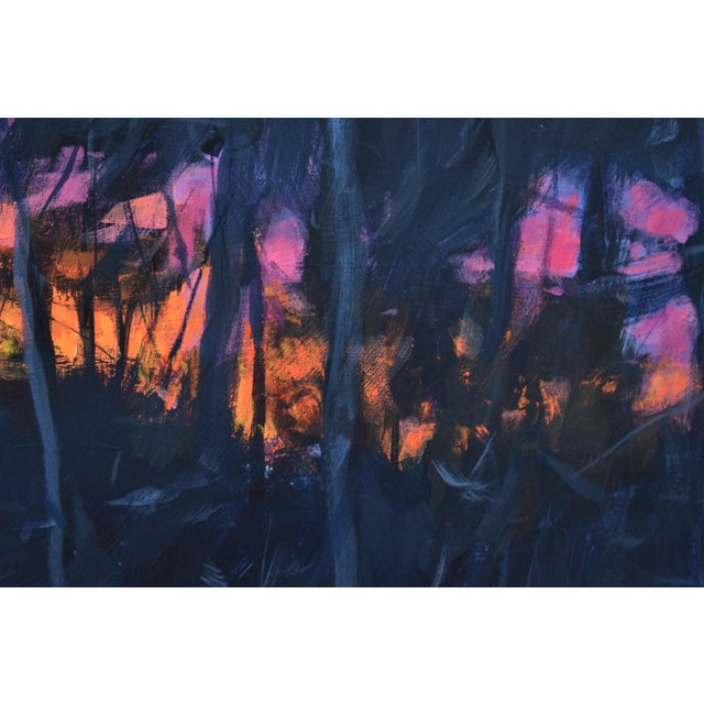 """Stephen Remick """"Sunrise From the Woods"""" Contemporary Landscape Acrylic Painting by Stephen Remick, Framed For Sale - Image 4 of 11"""