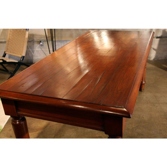 Italian Table in cherry wood. 1920s For Sale - Image 5 of 9