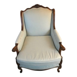 1930s Antique Teal Chair For Sale