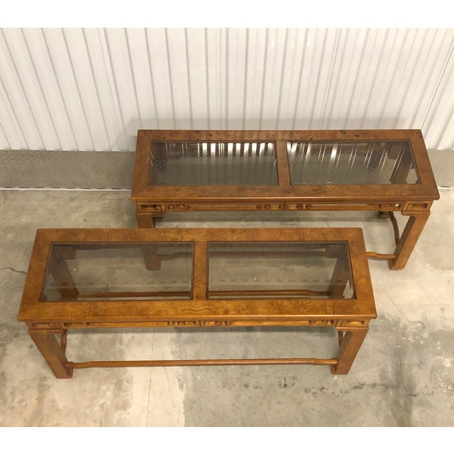 Asian 1970s Chinese Style Sofa Console Tables - a Pair For Sale - Image 3 of 12