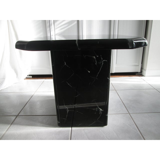 Retro Lacquered Marble Design Side Tables - A Pair - Image 3 of 8