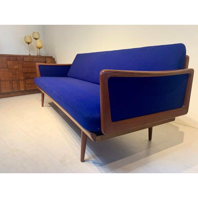John Stuart Mid Century Modern Peter Hvidt and Orla Mølgaard for John Stuart Teak & Cane Back Sofa For Sale - Image 4 of 13