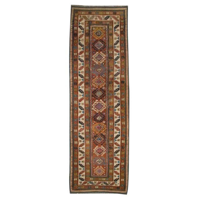 19th Century Persian Shirvan Carpet Runner 33 95