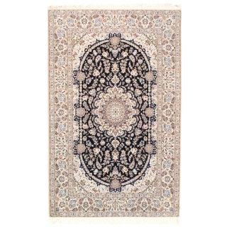 "Pasargad Persian Nain Silk & Wool Rug - 4'11"" X 7'7"" For Sale"
