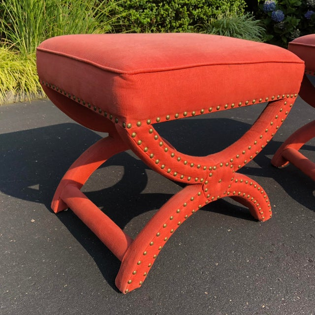 Pair Modern Decorator Stools For Sale - Image 4 of 11