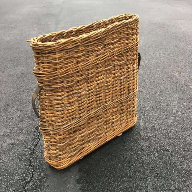 Vintage French Champagne Handled Basket - Image 4 of 5