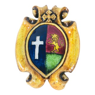 Italian Pottery Coat of Arms For Sale
