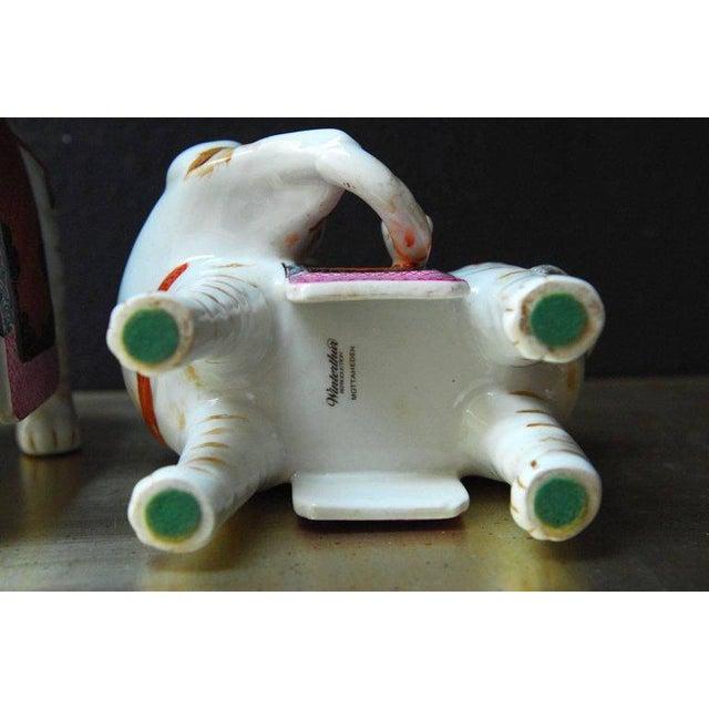 Orange Mottahedeh Porcelain Elephant Candleholders - Set of 4 For Sale - Image 8 of 11