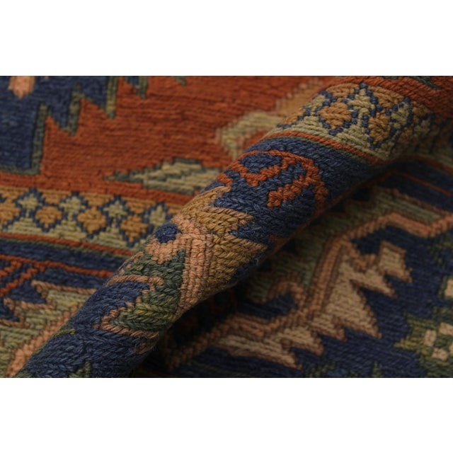 """1950s Antique Tribal Soumakh Sally Wool Rug - 6'7"""" X 9'2"""" For Sale In New York - Image 6 of 9"""