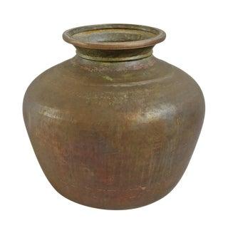 Vintage Brass Pot For Sale