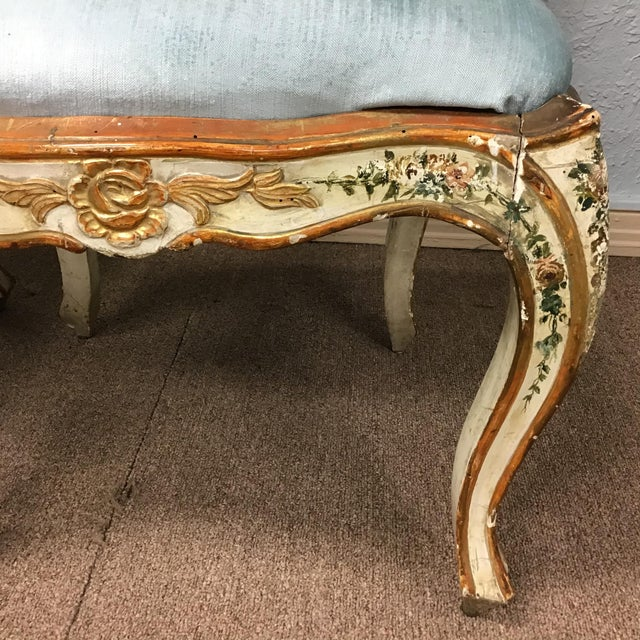 Paint Venetian Painted Chairs - a Pair For Sale - Image 7 of 11