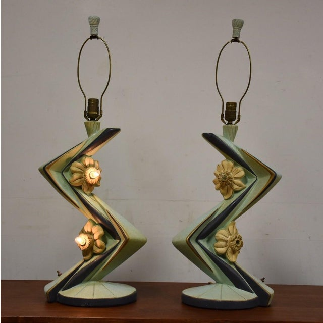 Mid-Century Table Lamps - A Pair - Image 2 of 11