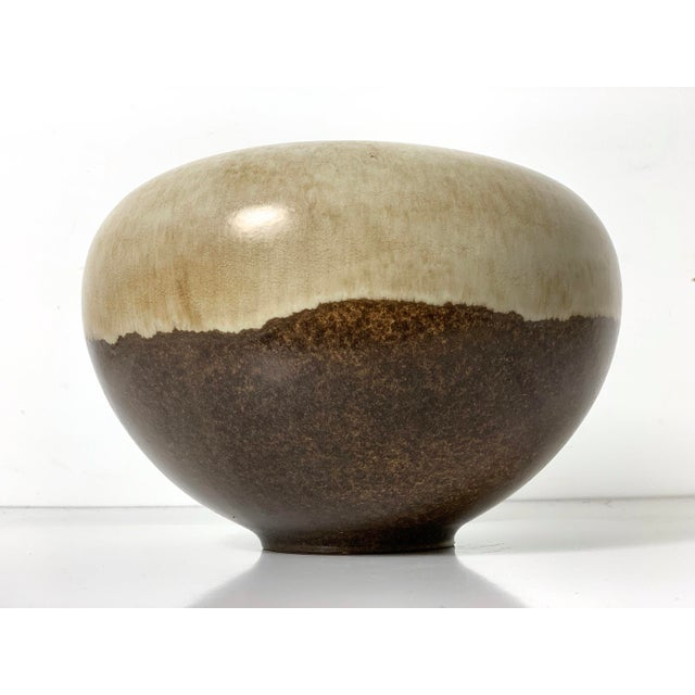 1960s Rare Alvino Bagni Large Earth Tone Vase 1960's For Sale - Image 5 of 10