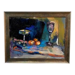 Vintage Impressionist Still Life Painting For Sale