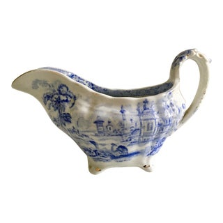 Antique English Ironstone Sauce Boat For Sale