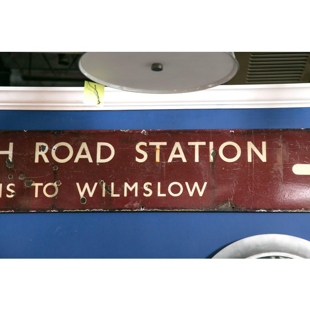 Antique English Railway Sign For Sale - Image 4 of 6