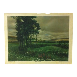 "Vintage Color Print on Paper, ""Before the Storm"" by Ad Miller Cassel - 1926 For Sale"