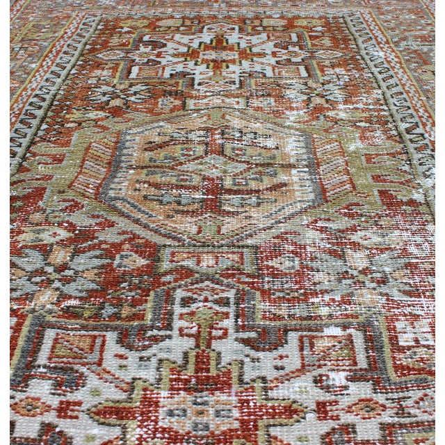Textile 1930s Semi Antique Karadjeh Rug - 2′11″ × 4′5″ For Sale - Image 7 of 11