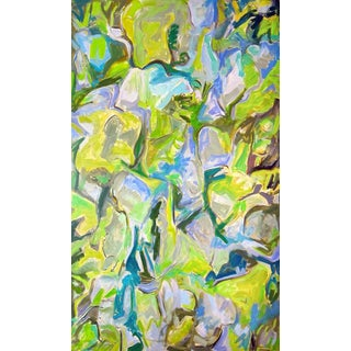 """After the Rain"" by Trixie Pitts Large Abstract Oil Painting For Sale"