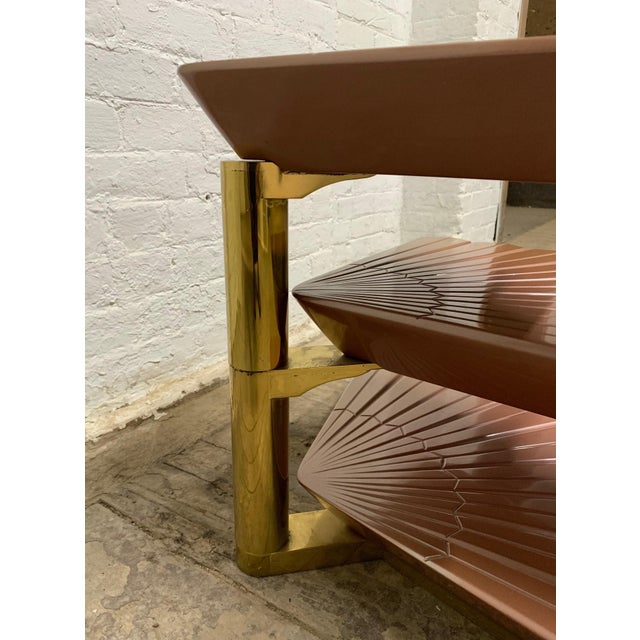 1970s Italian Tiered Occasional Table Style of Gabriella Crespi For Sale - Image 5 of 9