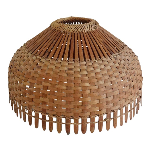 1960s Mid Century Modern Bamboo/Rattan Lampshade For Sale