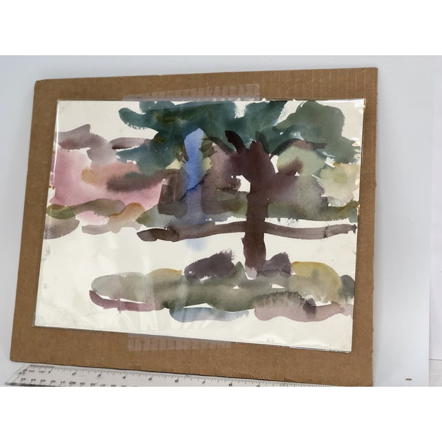"""1950s Victor DI Gesu Mid Century """"Carmel Landscape"""" Painting For Sale - Image 5 of 10"""