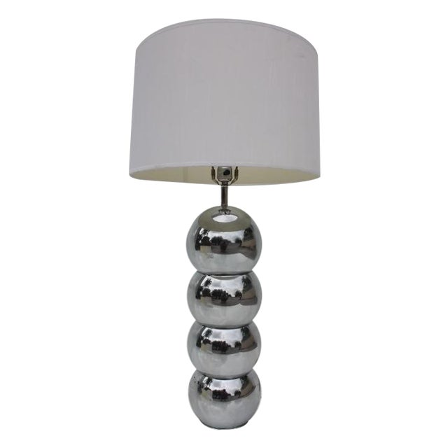 George Kovacs Stacking Chrome Ball Lamp For Sale