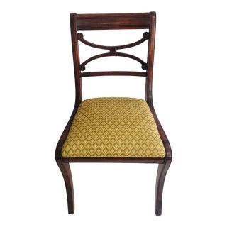 Upholstered Vintage Duncan Phyfe Chair For Sale