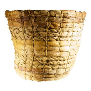 Primitive Handwoven Basket For Sale