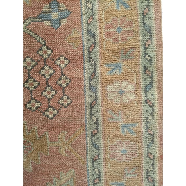"""Late 1800s Turkish Oushak Runner- 3' 5"""" X 14' 5"""" For Sale - Image 9 of 13"""