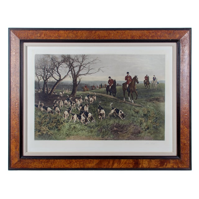 "Late 19th Century ""Lost Scent"" Hunt Scene Intaglio Print After Heywood Hardy For Sale - Image 5 of 5"