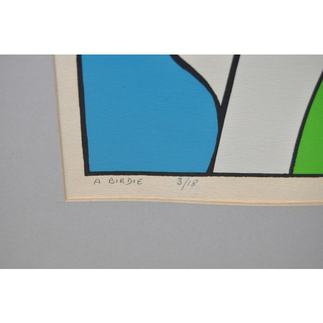 """Vintage Cubist Golf """"A Birdie"""" Silkscreen by Herman c.1977 For Sale In San Francisco - Image 6 of 7"""