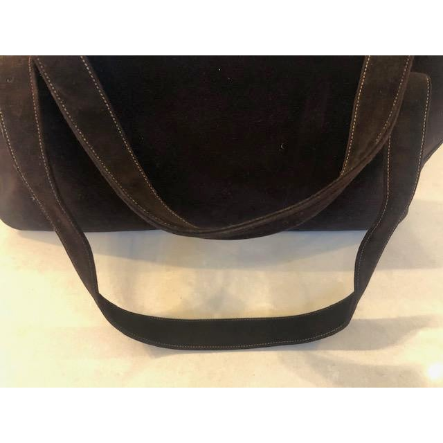 1940s Koret Chocolate Calfskin Suede Purse For Sale In New York - Image 6 of 13