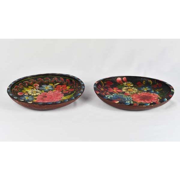 1950s Mexican Folk Art Batea Bowls - A Pair For Sale - Image 5 of 6