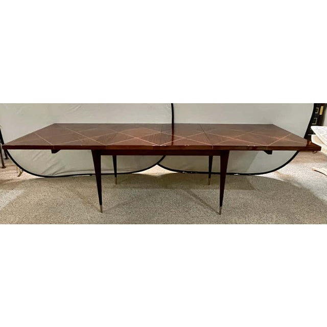 Late 20th Century A Tommi Parzinger Originals Dining Table Fully Refinished With Two Leaves For Sale - Image 5 of 13