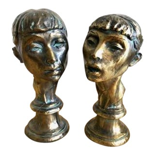 "Fred Press ""The Ballerinas"" Statues - a Pair For Sale"